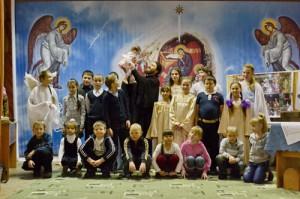 А в конце пьесы все участники исполнили песню «С Рождеством, тебя»